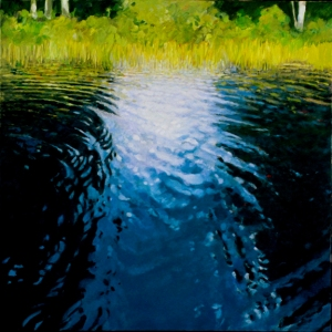 "Poplar Lake, 2005, 36""x36"", oil on canvas"